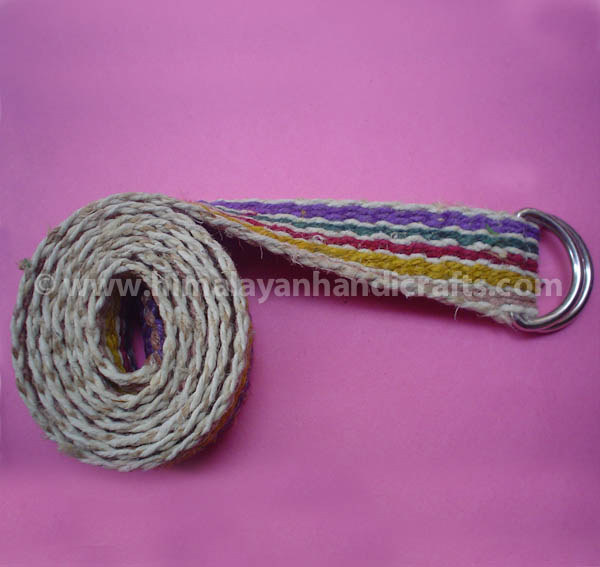Hemp woven D Buckle waist Belt