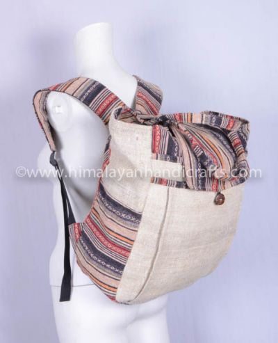 Fashionable Hemp and cotton Backpack HBBH 0031