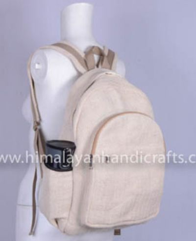 Pure Hemp  and Canvas Backpack HBBH-0032