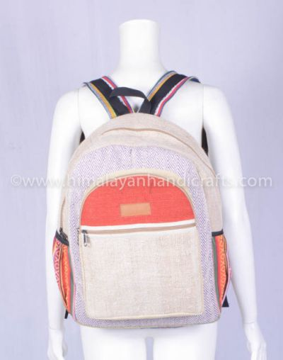Natural Handmade Unisex Canvas Boho Style Backpack School Laptop tape case Bag and backpack HBBH 0056