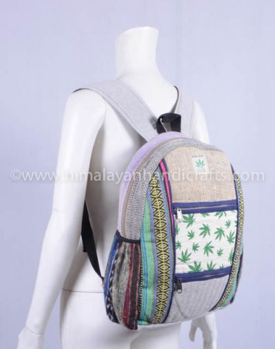 Beautiful comfortable eco-friendly l hemp cotton canvas bag and back pack  HBBH 0084