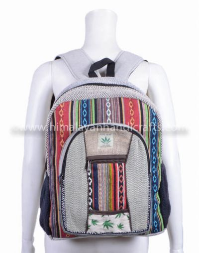Large and medium handmade multi color Aztec patter school college travelling Backpack HBBH 0085