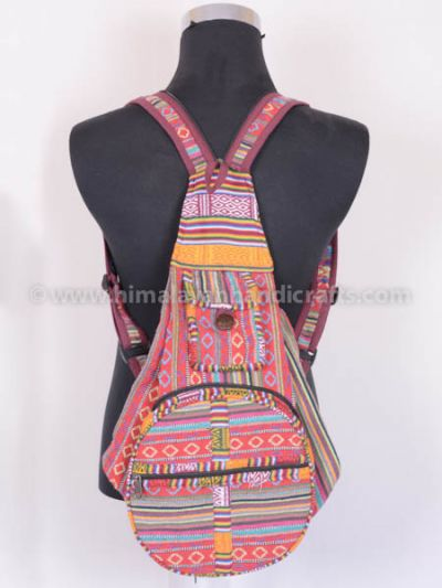 Convertible Canvas Sling Rucksack and Backpack HGBB-201-E